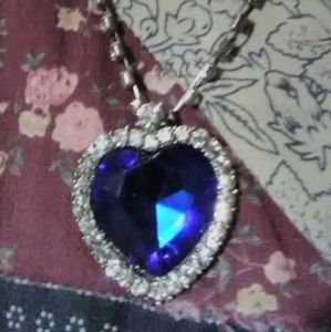 Jewelry - New, Child's Blue Heart Necklace